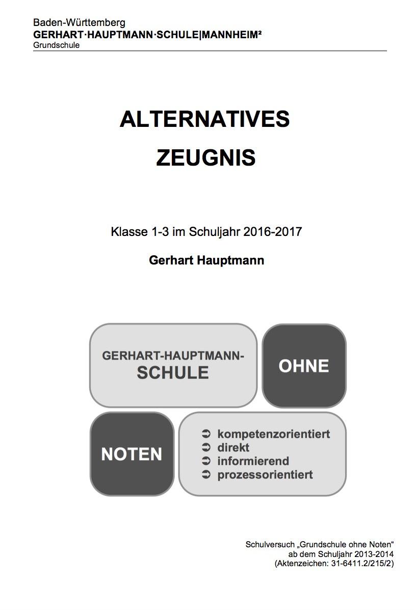 Alternatives-Zeugnis
